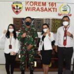 Danrem 161/Wira Sakti Terima Audensi Dengan Kepala Kantor Pajak Pratama Kupang.