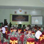 Komsos TNI Dengan Aparat Pemerintah Secara Virtual TA. 2021.